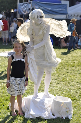 Daughter with a fairy at Bumbershoot 2011