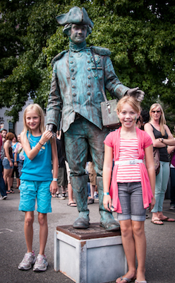 Daughter & friend with Tinman at Bumbershoot 2013
