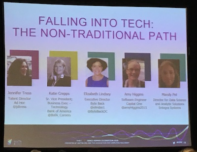 GHC 2018 - Falling into tech panel
