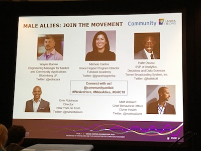 GHC 2018 - Male allies panel